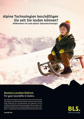 BLS Kampagne Schlitten